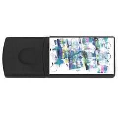 Background Color Circle Pattern USB Flash Drive Rectangular (4 GB)