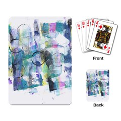 Background Color Circle Pattern Playing Card
