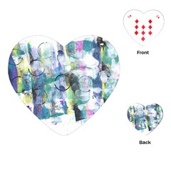 Background Color Circle Pattern Playing Cards (Heart)