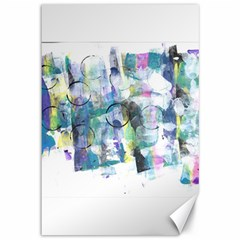 Background Color Circle Pattern Canvas 12  x 18