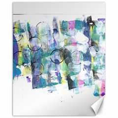 Background Color Circle Pattern Canvas 11  x 14