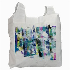 Background Color Circle Pattern Recycle Bag (Two Side)