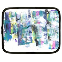 Background Color Circle Pattern Netbook Case (XXL)