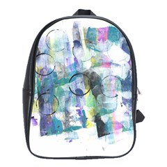 Background Color Circle Pattern School Bags(Large)
