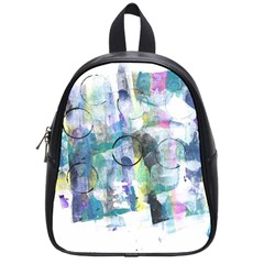 Background Color Circle Pattern School Bags (Small)
