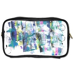 Background Color Circle Pattern Toiletries Bags
