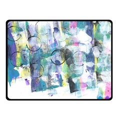 Background Color Circle Pattern Fleece Blanket (Small)