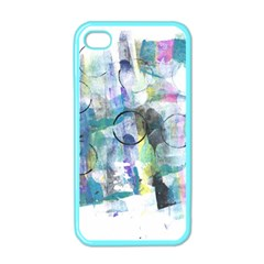 Background Color Circle Pattern Apple iPhone 4 Case (Color)