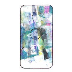 Background Color Circle Pattern Apple iPhone 4/4s Seamless Case (Black)