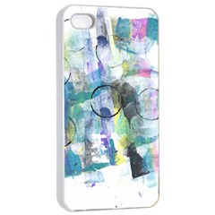 Background Color Circle Pattern Apple iPhone 4/4s Seamless Case (White)