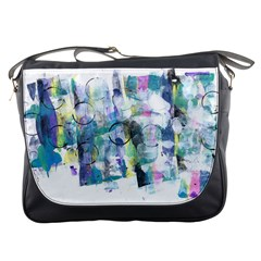 Background Color Circle Pattern Messenger Bags