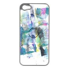 Background Color Circle Pattern Apple iPhone 5 Case (Silver)