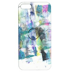Background Color Circle Pattern Apple iPhone 5 Hardshell Case with Stand