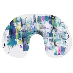 Background Color Circle Pattern Travel Neck Pillows