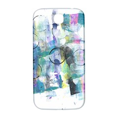 Background Color Circle Pattern Samsung Galaxy S4 I9500/I9505  Hardshell Back Case