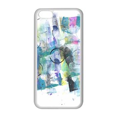 Background Color Circle Pattern Apple iPhone 5C Seamless Case (White)
