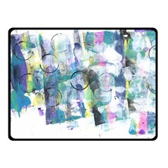 Background Color Circle Pattern Double Sided Fleece Blanket (Small)
