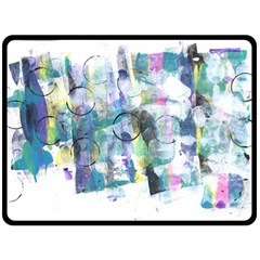 Background Color Circle Pattern Double Sided Fleece Blanket (Large)