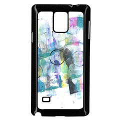 Background Color Circle Pattern Samsung Galaxy Note 4 Case (Black)
