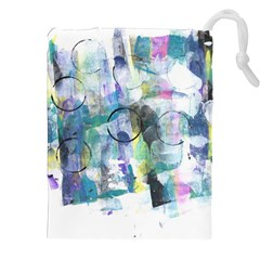 Background Color Circle Pattern Drawstring Pouches (XXL)