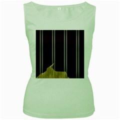 Background Texture Distress Women s Green Tank Top