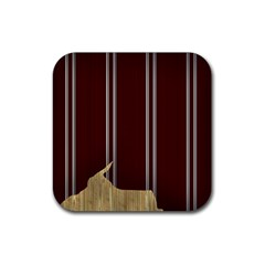 Background Texture Distress Rubber Coaster (Square)
