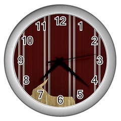 Background Texture Distress Wall Clocks (Silver)