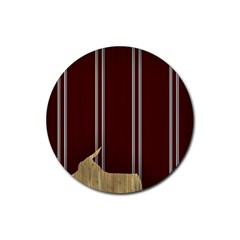 Background Texture Distress Rubber Round Coaster (4 pack)