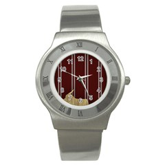 Background Texture Distress Stainless Steel Watch