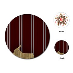 Background Texture Distress Playing Cards (Round)