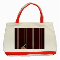 Background Texture Distress Classic Tote Bag (Red)