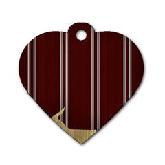 Background Texture Distress Dog Tag Heart (One Side)