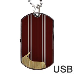 Background Texture Distress Dog Tag USB Flash (One Side)