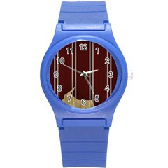 Background Texture Distress Round Plastic Sport Watch (S)