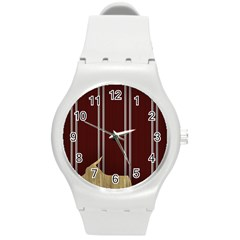 Background Texture Distress Round Plastic Sport Watch (M)