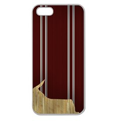 Background Texture Distress Apple Seamless iPhone 5 Case (Clear)