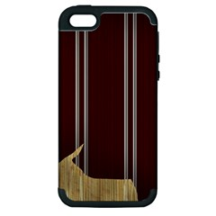 Background Texture Distress Apple iPhone 5 Hardshell Case (PC+Silicone)