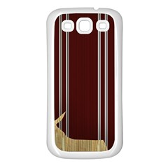 Background Texture Distress Samsung Galaxy S3 Back Case (White)