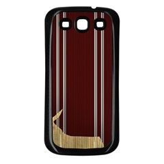 Background Texture Distress Samsung Galaxy S3 Back Case (Black)
