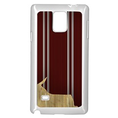 Background Texture Distress Samsung Galaxy Note 4 Case (White)