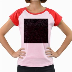 Black Rectangle Wallpaper Grey Women s Cap Sleeve T-Shirt