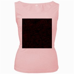 Black Rectangle Wallpaper Grey Women s Pink Tank Top