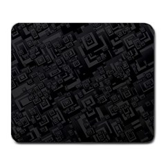 Black Rectangle Wallpaper Grey Large Mousepads