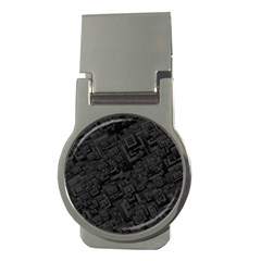 Black Rectangle Wallpaper Grey Money Clips (Round)