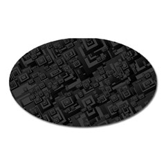Black Rectangle Wallpaper Grey Oval Magnet
