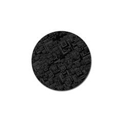 Black Rectangle Wallpaper Grey Golf Ball Marker (4 pack)