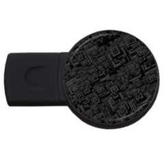 Black Rectangle Wallpaper Grey USB Flash Drive Round (2 GB)