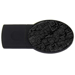 Black Rectangle Wallpaper Grey USB Flash Drive Oval (1 GB)