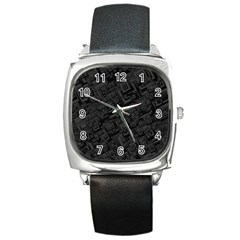 Black Rectangle Wallpaper Grey Square Metal Watch