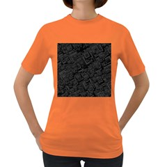 Black Rectangle Wallpaper Grey Women s Dark T-Shirt